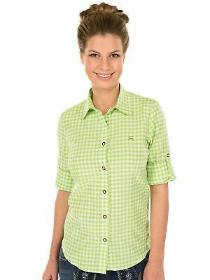 Orbis Traditional Costume Blouse Checkered Long Sleeve with Embroidery Apple