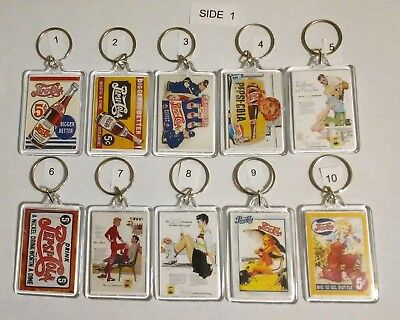 Pepsi Cola Key Chain--Ventage Ads & Logos  (Choice) Lot 1