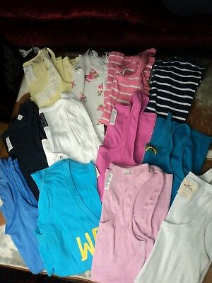Bundle 12 Vests & 1 Tee. All Fit 8-10. Jack Wills A&f Tom Wolfe Used Condition