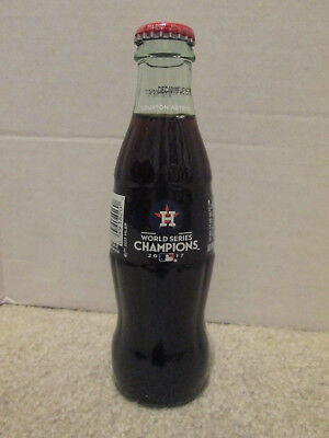 2017 Coca - Cola World Series Champions Houston Astros 8 0Z Bottle, Full
