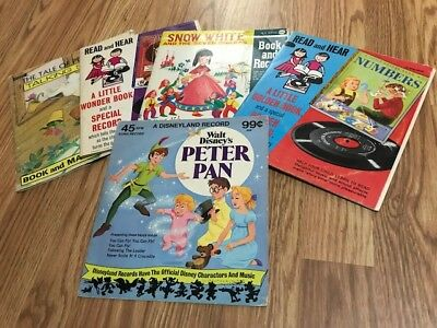 Lot of (5) Vintage Read and Hear Talking Story 45 RPM Record Books