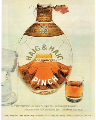 1957 HAIG & Haig Pinch Scotch Whiskey Vtg Print Ad