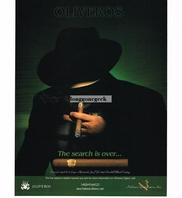 1998 Oliveros Coronel Cigars shadowy mysterious man Vtg Print Ad