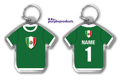 Personalised MEXICO 2018 World Cup Football Team Supporters Keyring