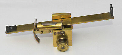 c.1880. Small lacquered brass clinometer / sighting level