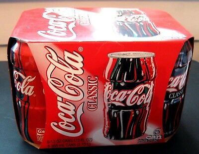 Coca-Cola Test Market Contour Can Unopened 6-Pack from 1996