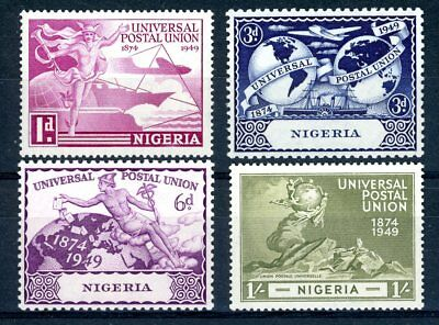 Nigeria 1949 Universal Postal Union Set Of 4 (Sg 64/7) Vlmm