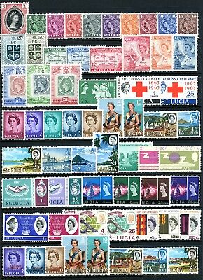 St Lucia 1953/73 - Selection Of 170 Different Stamps Umm/mnh