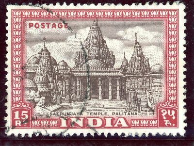 India 1949 Definitives 15R (Sg 324) Top Value - Good Used