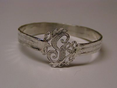 Napkin Ring with a ( Initial ( G ) Sterling Silver