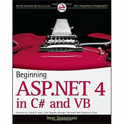 Beginning ASP.NET 4: In C# and Vb - Paperback NEW Spaanjaars, Ima 2010-03-19