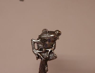 Salt Spoon Sterling Silver ( Frog )