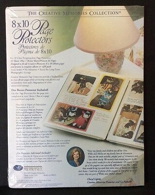 Creative Memories 8x10 Page Protectors Original 1999 16 Sheets 32 Pages Sealed