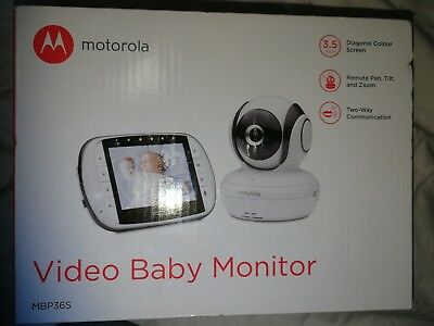 Motorola Mbp36S Video Baby Monitor 3.5Inch Lcd Pan - New