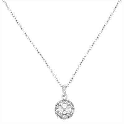 Avon Dacey Sterling Silver Diamond necklace - rrp £75 - BNIB