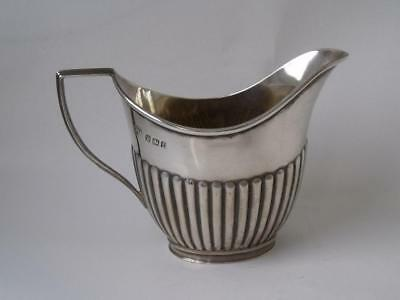 Dainty Antique Victorian Solid Sterling Silver Cream Jug 1898/ L 9.7 cm/ 53 g