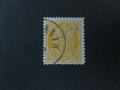 Iceland 1873 16 Skilling Yellow Perf. 14x13½  Used Very Rare