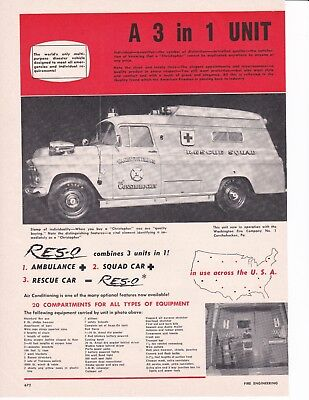 Washington Fire Co. Conshohocken Pa  Christoper Ambulances  1957  Ad  2 Page7106