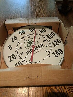 "Vintage Pioneer Seed Corn Farm 12""  Thermometer Sign  NOS."