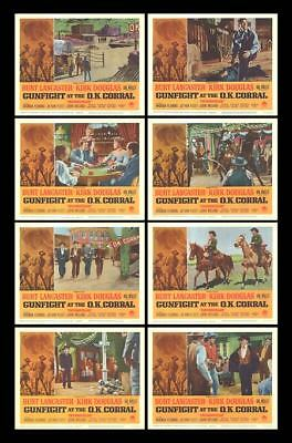 GUNFIGHT AT THE O.K. CORRAL orig lobby card set KIRK DOUGLAS 11x14 movie posters
