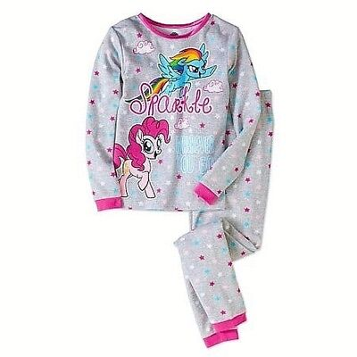 NWT Girl's Sz 8 My Little Pony Thermal Underwear Sparkle Wherever Go 2 pc Set