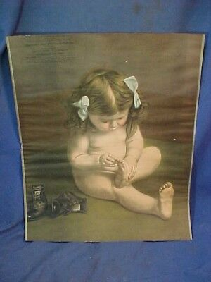 Orig 1920s BINGHAMTON Ny AUTO WRECKING Parts Co Advertising PRINT w LITTLE GIRL