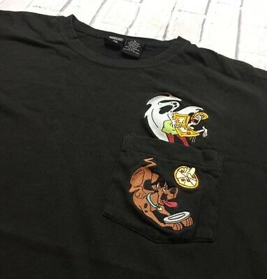 58a6b1ee563 90s VTG SCOOBY DOO SHAGGY POCKET T Shirt Looney Tunes XL Boxy Black Warner  Bros.