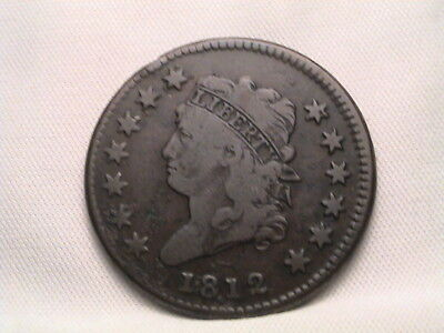 1812 Classic Head Large Cent. S-290, R1