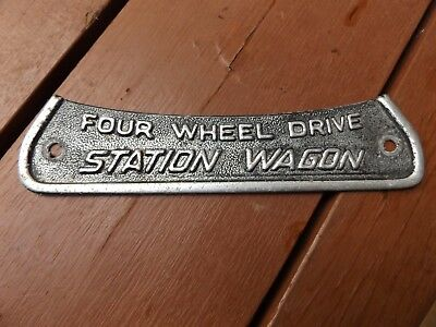 Vintage Land Rover Series One Station Wagon Badge