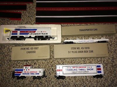 Vintage Bachmann All American Traveling Daredevil Thrill Show HO Train Set