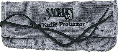 Sack Ups AC802 Silicone Treated Gray Cotton Knife Protector Roll Holds 6 Knives