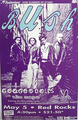 Bush / Goo Goo Dolls / No Doubt 1996 Denver Concert Tour Poster