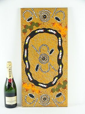 Vintage Australian Aboriginal Dot painting Utopia Central Australia Bush Dreami