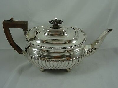 LARGE, VICTORIAN silver TEA POT, 1896, 604gm
