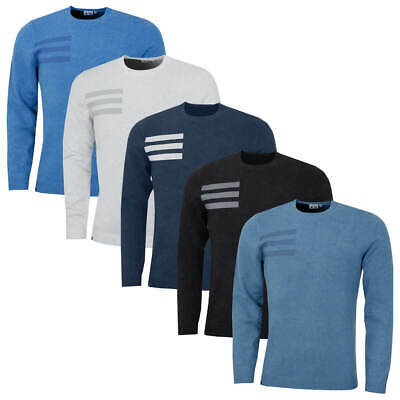 adidas Golf Mens Blend Cotton Crew Neck Jumper Pullover Sweater 44% OFF RRP