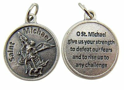 Catholic Archangel Saint Michael Medal with Prayer Protection Pendant, 3/4 Inch