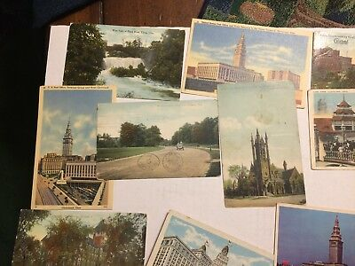 Lot of 20 Vintage Postcards Cleveland and Elyria Ohio