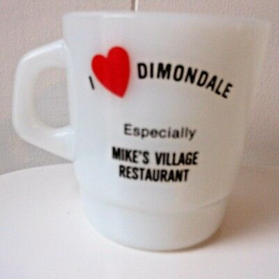MIKE'S Restaurant Mug CUP DIMONDALE Michigan Diner Advertising VILLAGE D HANDLE