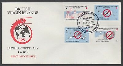 British Virgin Islands 1988 FDC 125th Anniversary Of The Red Cross