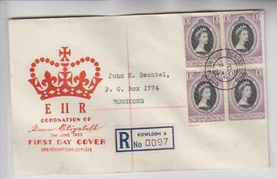 Hong Kong Registered First Day Cover
