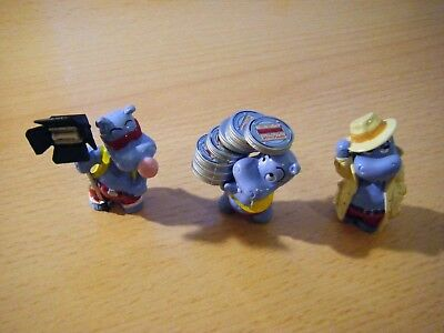 3 Figuren Happy Hippos Hollywood - 1997