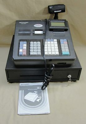 Sharp Xe-A507 Electronic Cash Register Retail Point Of Sale W/instruction Manual