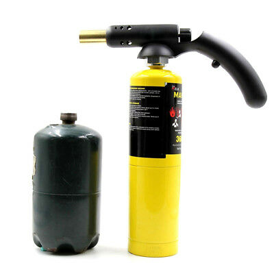 High Temp Propane Mapp Gas Self Ignition Torch Brazing handle Welding Plumb