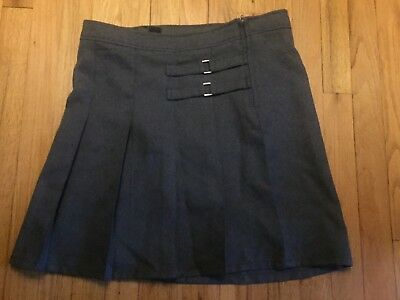 FRENCH TOAST Girls School Uniform Gray Skirt Skort ** Size 16 ** EUC