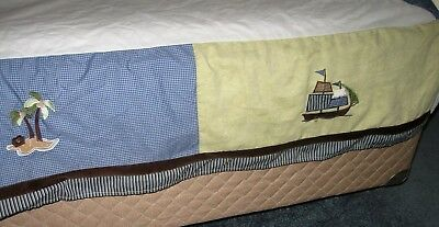 Nojo Ahoy Mate Baby Nusery Crib Skirt