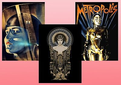 METROPOLIS  Fritz Lang 1927 Sci-Fi Classic Textless A5 A4 A3 Movie Poster set