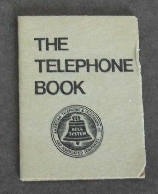 "VINTAGE TINY Miniature Grey Paper ""The Telephone Book"" w/ Bell Telephone Icon"