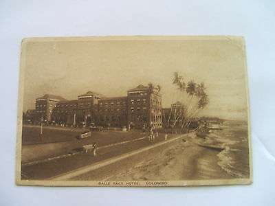 Vintage Postcard -  Ceylon - Galle Face Hotel Columbo Posted 1925