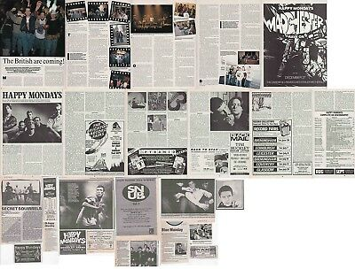 HAPPY MONDAYS : CUTTINGS COLLECTION -adverts- magazine articles