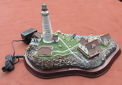 Danbury Mint Little Brewster Island Boston Ma Lighted Lighthouse Number Edition